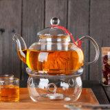 Potenciômetro de vidro e copos dos produtos vidreiros de vidro do jogo de chá do presente