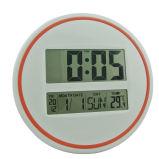 Часы стены цифров большого размера круглые с температурой