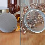 La cocina de la Junta de almacenamiento Hot-Sale vidrio lata olla con tapa de metal