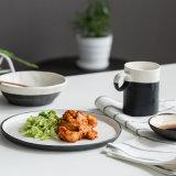 白黒減少の炎の食事用食器セットのディナー・ウェア