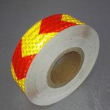 Alto tipo cinta reflexiva del cedazo de la visibilidad de la flecha adhesiva para la seguridad