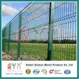 Горячая окунутая гальванизированная загородка ячеистой сети провода покрынная PVC сваренная