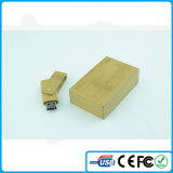 China paste de Houten Materiële USB Stok van het Embleem 8GB aan
