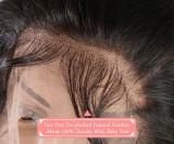 Plenos Derechos de color natural Remy Virgen encaje pelo peluca