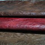 Sintéticos artificiais Faux imitação de couro PU como casca de Sofá -Flos