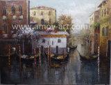 De Schilderijen van Venetië van het Mes van het palet direct van de Workshop van de Kunstenaar