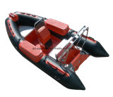 Aqualand 14feet 4.2mの堅く膨脹可能な救助艇の/Ribのモーターボート(RIB420B)