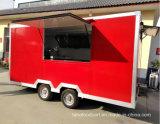 Gran espacio multifunción BBQ carreta a la venta, freidora carro remolque comida