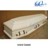 Cercueil blanc de satin d'allumeur de vente en gros de peinture
