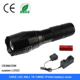 CREATE L2 1600lm Zoomable 18650 gold 3xaaa Battery LED Flashlight