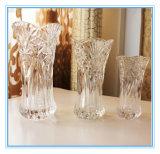 Vase à fleurs en verre carré clair de haute qualité