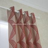 Tessuto tradizionale della tenda del filato di restringimento del poliestere di colore rosso