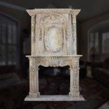 Overmantel Lareira lareira de mármore com boa qualidade Hand-Carved
