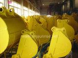 幼虫小松日立Kobelco KatoヒュンダイDeawooのための2200mmの泥バケツのグラブ