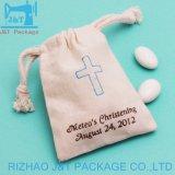 Tissu de coton Sac avec lacet de serrage avec logo personnalisé, de coton couleur format coulisse sac de bijoux, le coton biologique cordons