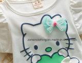 소녀의 여름 복장은 여보세요 공동 자금 귀여운 아이들 옷으로 인쇄했다