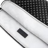 Grabado en color negro clásico patrón de diamantes de la bolsa de portátil de neopreno (FRT1-158)