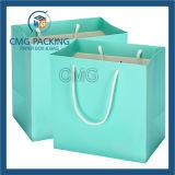 Синий горячей пленки печать крафт-бумаги подарочный пакет (DM-GPBB-160)