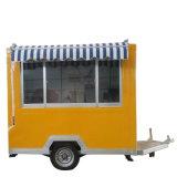 Concession d'aliments Café Mobile de plein air avec les roues de remorque