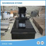 Monumenti commemorativi della pietra tombale di stile americano nero del granito della Cina