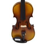 Цельная древесина 4/4 полного размера акустического скрипка с жесткий футляр, лук, канифолевым сердечником