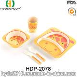 Sortiertes Art-Kind-Bambusfaser-Abendessen-Set (HDP-2078)