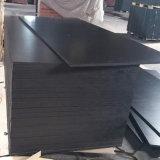 Madera impermeable de la cara de la película del negro de la base del álamo para la construcción (6X1250X2500m m)
