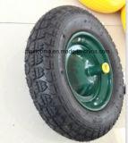 悪臭のない緑の手押し車のタイヤ