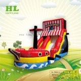 Inflable lindo barco pirata puede ser personalizado para niños
