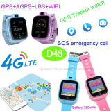 Neueste 4G/WiFi GPS Verfolger-Uhr zur Kind-Sicherheit D48
