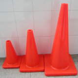 Flexible PVC Route Traffic Safety Cone Tous les cônes Orange en PVC