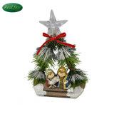 De binnen Hand sneed de Miniatuur LEIDENE Lichte Reeksen van de Geboorte van Christus