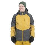 Dois Mens da combinação de cores Waterproof o revestimento de esqui acolchoado respirável