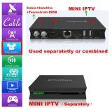 Combo Box IPTV y DVB Sintonizador con WiFi y navegador de Internet