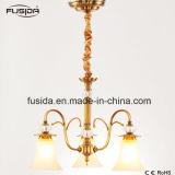 Iluminação moderna do pendente dos candelabros do hotel para a venda com Lampshade de vidro para o apartamento
