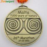 Médaille de métal personnalisés avec l'argent plaqué