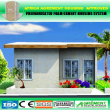 Boa casa bem-desenvolvida isolada do Prefab do telhado liso de bens imobiliários