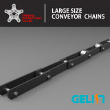 OEM personalizzato Cement Industrial Conveyor Chain Alloy Steel con Attachments