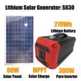 비상사태 300W 태양 에너지 발전기를 위한 소형 휴대용 발전소