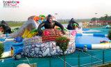 De opblaasbare Dia van de Wildernis van het Water met Zwembad