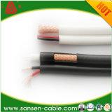 De Coaxiale Kabel van kabeltelevisie Rg59 met Boodschapper