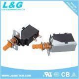 Power on/off 12A250V Interrupteur à bouton poussoir pour chauffage PTC