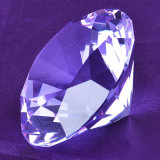 Диамант сапфира голубой декоративный большой стеклянный кристаллический для орнаментов