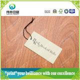 Haute Qualité logo personnalisé Livre Imprimé étiquette de coup pour le vêtement