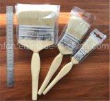 Hölzerner Griff-Lack-Pinsel mit weißem China-Borstejiangsu-Hersteller