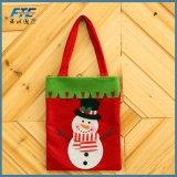 Sacchetto del Non-Woven del sacchetto di acquisto del sacchetto del regalo della caramella del Babbo Natale di natale