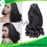 最上質の卸し売り自然なブラジルの毛のFumiのバージンの毛のよこ糸