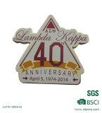 Distintivo duro di Pin del risvolto di anniversario dello smalto 40 del metallo su ordinazione per la promozione (XD-013124)