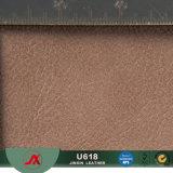Tessuto di cuoio artificiale del PVC di nuovo disegno 2017 per mobilia, reticolo della cera dell'olio
