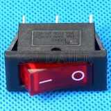 Luz roja de 3 pines T125 El interruptor basculante
